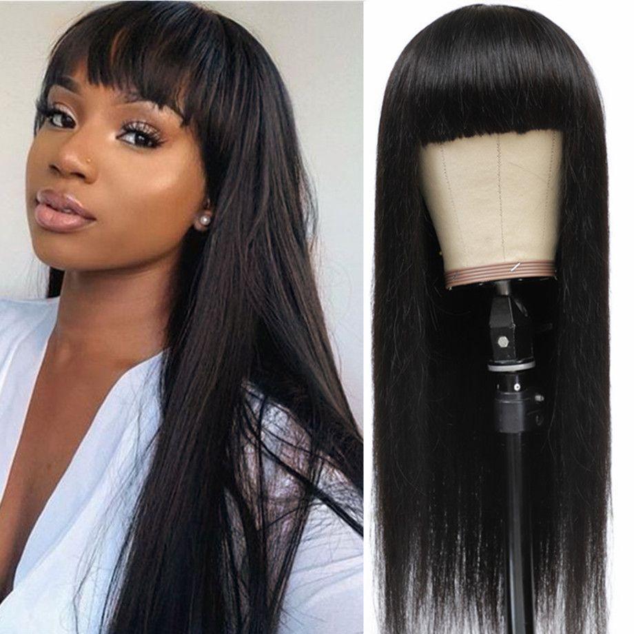 короткие Боб взрыва париков прямые волосы человеческие парики бразильский машина сделала парик для женщин 150% Плотность