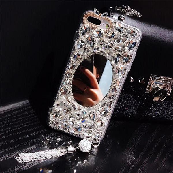 Jewelled Mirror Soft Back Pendant phone cases samsung galaxy s20 plus case samsung galaxy s20 case samsung galaxy s20 ultra case