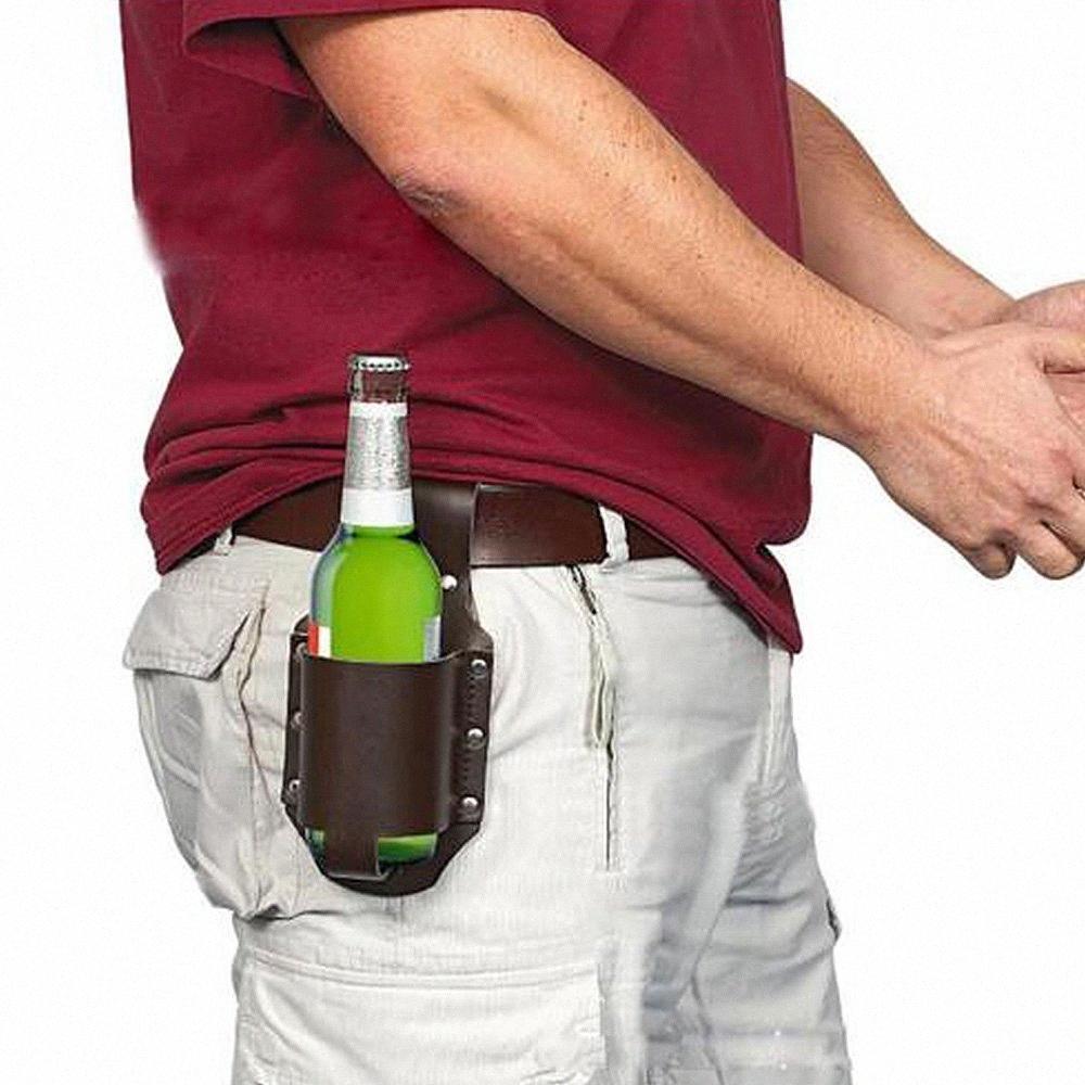 Climbing Houkiper esterna Bottiglie d'escursione di campeggio Holster Handy Wine Beverage Can Holder Portable bottiglia vita birra Belt Bag 1pc 3AUo #