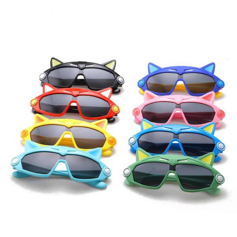 Kinder polarisiertem Licht Sonnenbrille Cartoon-Gläser Anti-UV-Brille Goggle Silica Gel Frane Brillen Adumbral Zier A ++