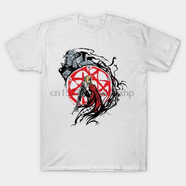 Homens camisetas FullMetal Círculo Fullmetal Alchemist T shirt mulheres t-shirt tees top
