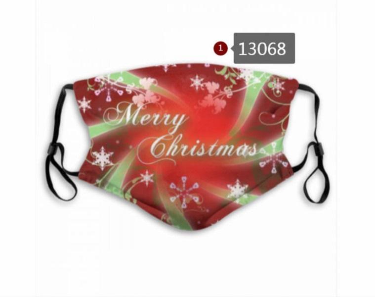 Whoelsale Frohe Weihnachten Designer Gesichtsmaske 5 Schicht Aktivkohlefilter wasserdicht atmungsaktiv Maske M-förmige Nasen-Clip-Maske A4