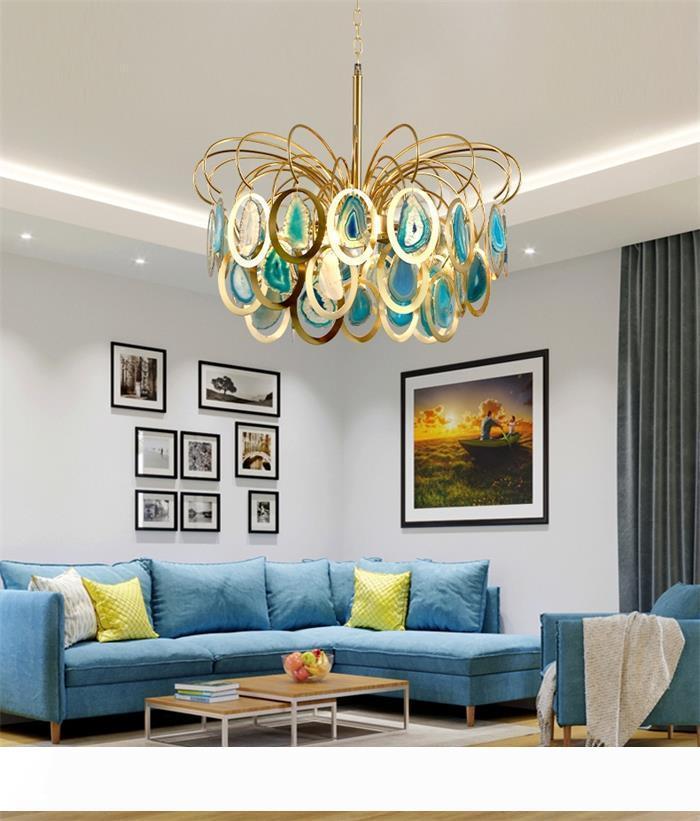 lampadari luce postmoderni nordici soggiorno pezzo sala da pranzo agata lampadari bar negozio di abbigliamento villa Lampadari