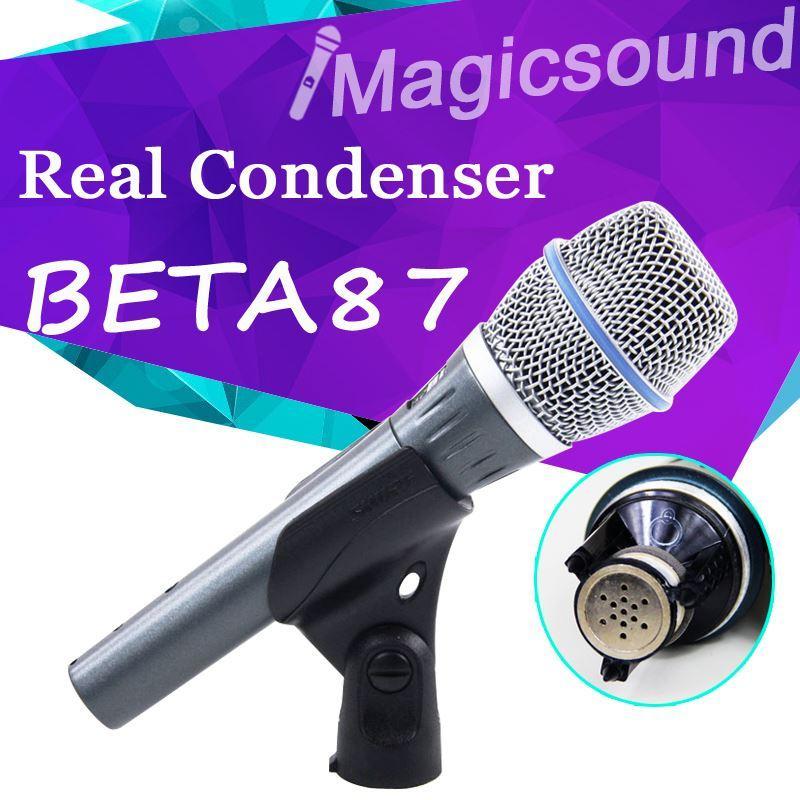 Gerçek Kondenser Mikrofon BETA87A !! Şaşırtıcı Sound TOP Kalite Vokal BETA 87A 87 Kondenser Tel Mikrofon El Mikrofonu