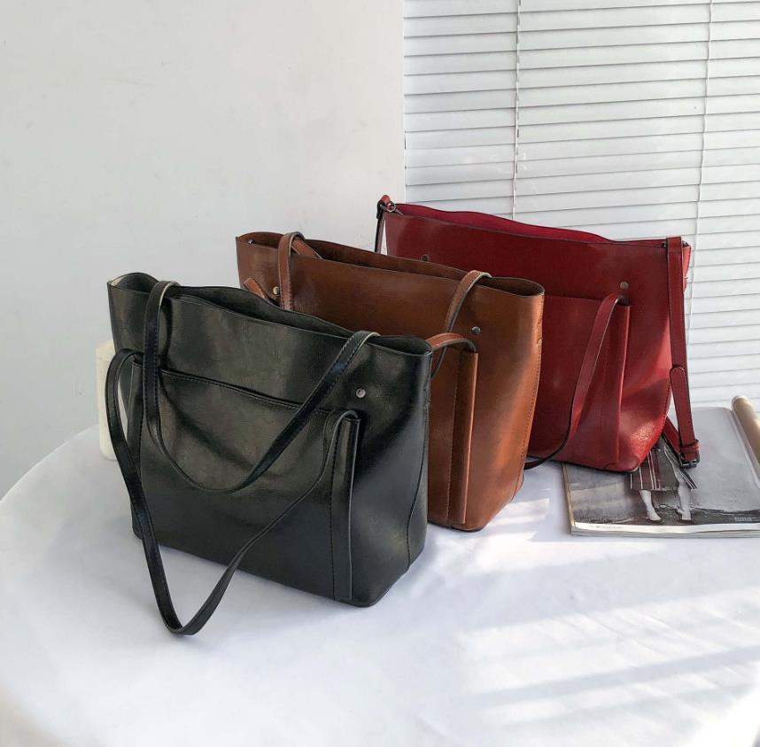 Yeni Moda Kadın Çanta Moda Çanta Messenger Çanta Bez Big Bag Kepçe Sünnet derisi Çanta