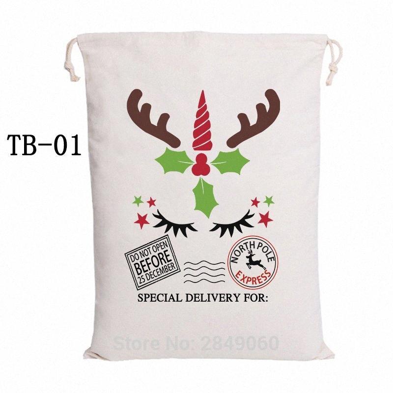 Sacos de Santa Bolsa de Navidad 38 Estilos de lazo lienzo de Santa saco bolsa de mano de la venta caliente el partido grande Noel VPoR regalo #