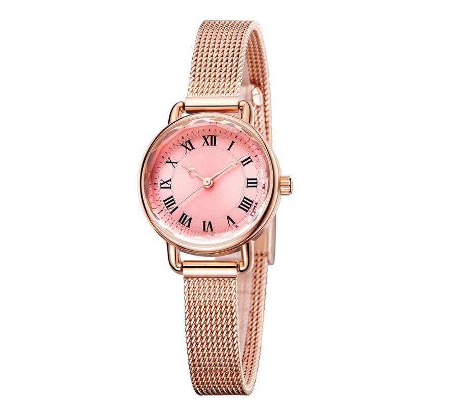 أزياء المرأة الساعات 33MM الصلب الشريط لأنثى الأزرق الوردي الميكانيكية الإبزيم العلامة التجارية ساعة اليد zcek اون لاين