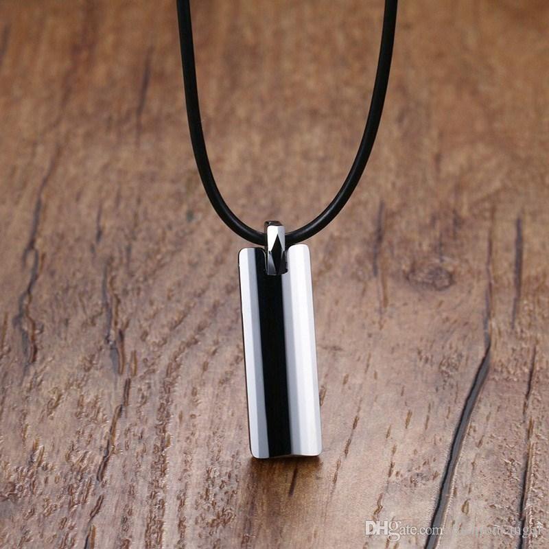 G104 Top Qualität Weihnachtsgeschenk für Männer Wolfram Halskette einfache Stil Halskette Anhänger mit Kette Modeschmuck Großhandel factoy Lieferanten