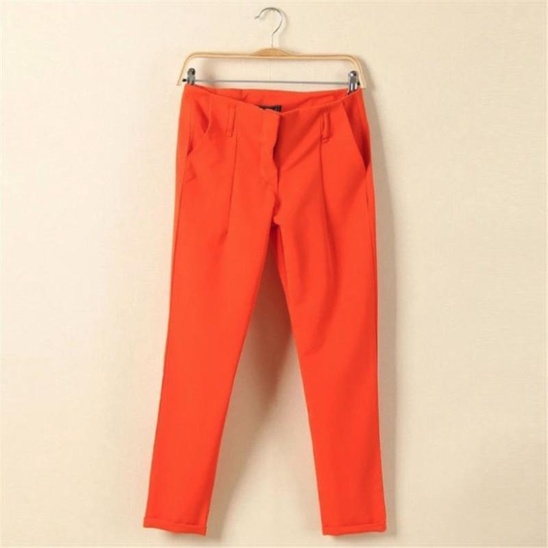2019 pantalones ocasionales de los nuevos de las mujeres de alta calidad pantalones sólidos T200727