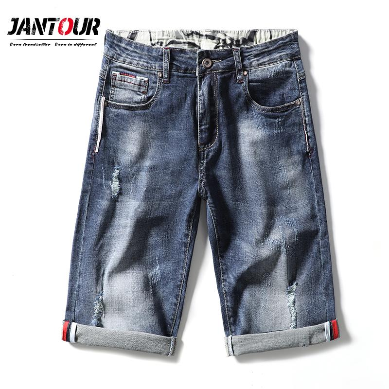 Jantour Marque Vêtements d'été New Fashion Jeans cuissard Hommes Casual Slim Fit Denim de haute qualité élastique Shorts Homme 28-40
