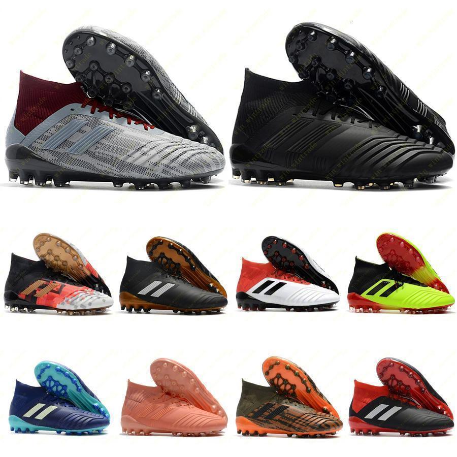 Mens grampos do futebol de qualidade superior Predator 19,1 FG 18.1 chuteiras Predator 19 FG 18 chuteiras alta tornozelo ao ar livre scarpe da calcio 39-45