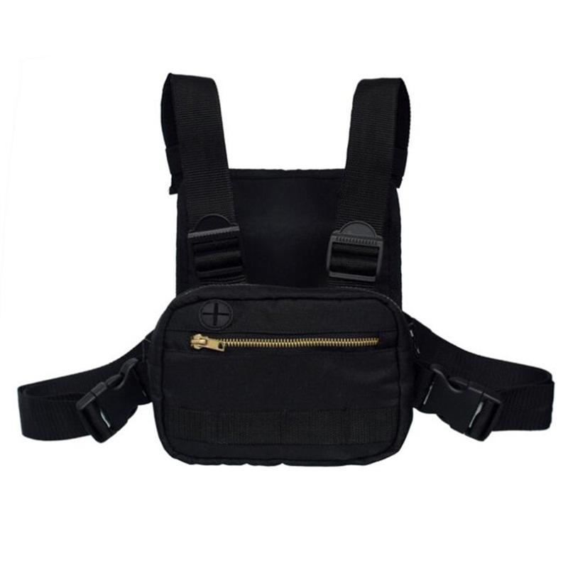 Tactical Paket Rucksäcke Im Freien Sporttasche Schwarz Waist Taschen Good Men Brusttasche Rig Hip Hop Street 35HD E2