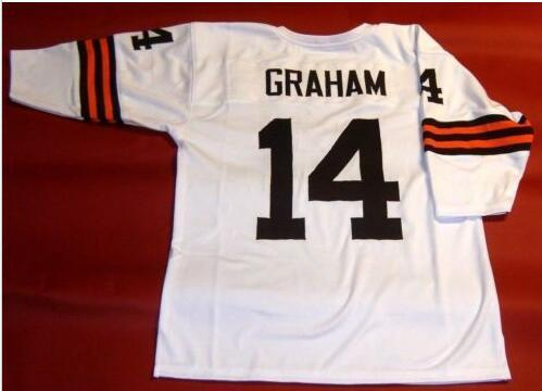 Custom Men Youth women Vintage #14 OTTO GRAHAM CUSTOM 3/4 SLEEVE Football Jersey size s-4XL or custom any name or number jersey