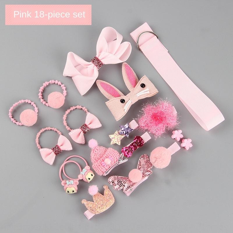 Children's Children's piece hairpin set cute princess little girl hair accessories baby girl Korean baby hairpin clip 18-piece set