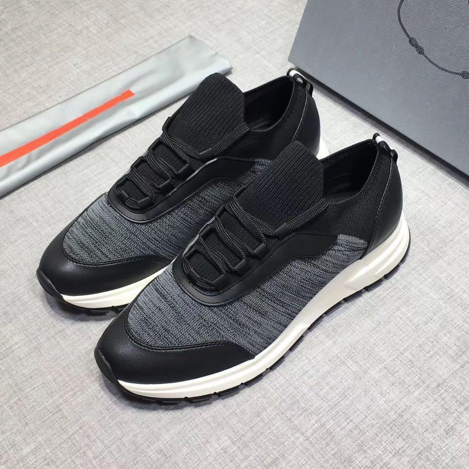 dos homens das sapatas de lona E bezerro Trainers Moda Europa Moda Sneaker New Sneakers B22 instrutor técnico malha RD 38-44 02
