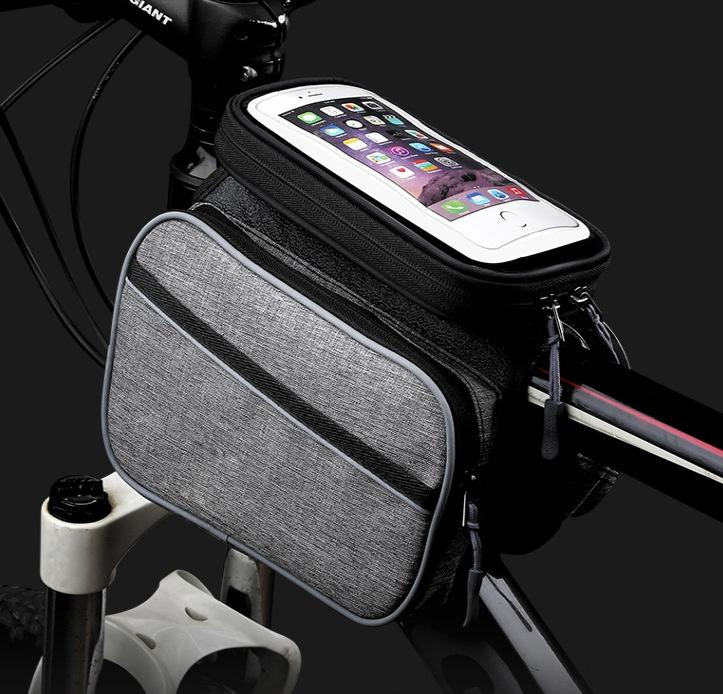 Bicycle Beam Mobile Telefono cellulare Accesso Telefono M8rat Bag Saddle Bike Anteriore Nuovo Tubo Tube Attrezzature Bicycle Mountain Sella Borsa da ciclismo Acqua NFWK