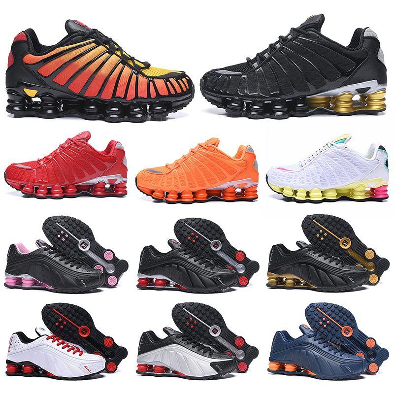 nike shox tl chaussures shox tl OG R4 triple negro hombres mujeres zapatos para correr plataforma 301 Sunrise Lime Blast para hombre entrenador calzado deportivo zapatillas