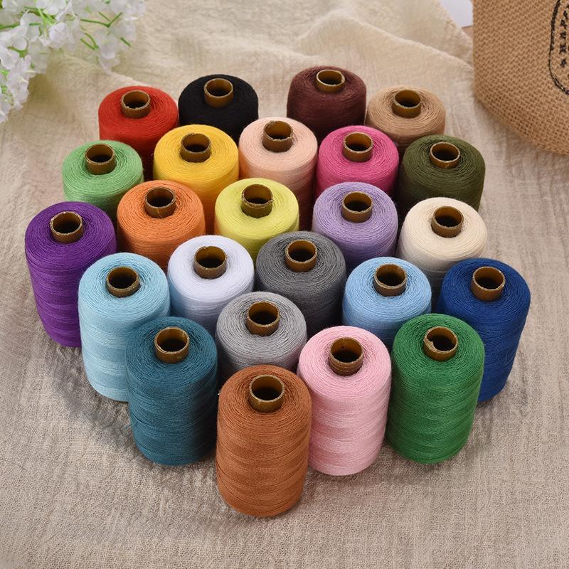 1000 yardas 24PCS multicolor bordado de máquina de coser de poliéster Hilos de rosca del hilo de coser Craft Patch Suministros volante