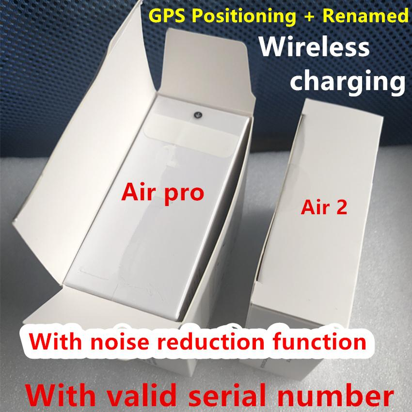 Noise reduction transparent mode Air 3 H1 Chip Rename GPS Wireless Charging Bluetooth Headphones Pods 2 Pro AP2 AP3 Earbuds 2nd Generation