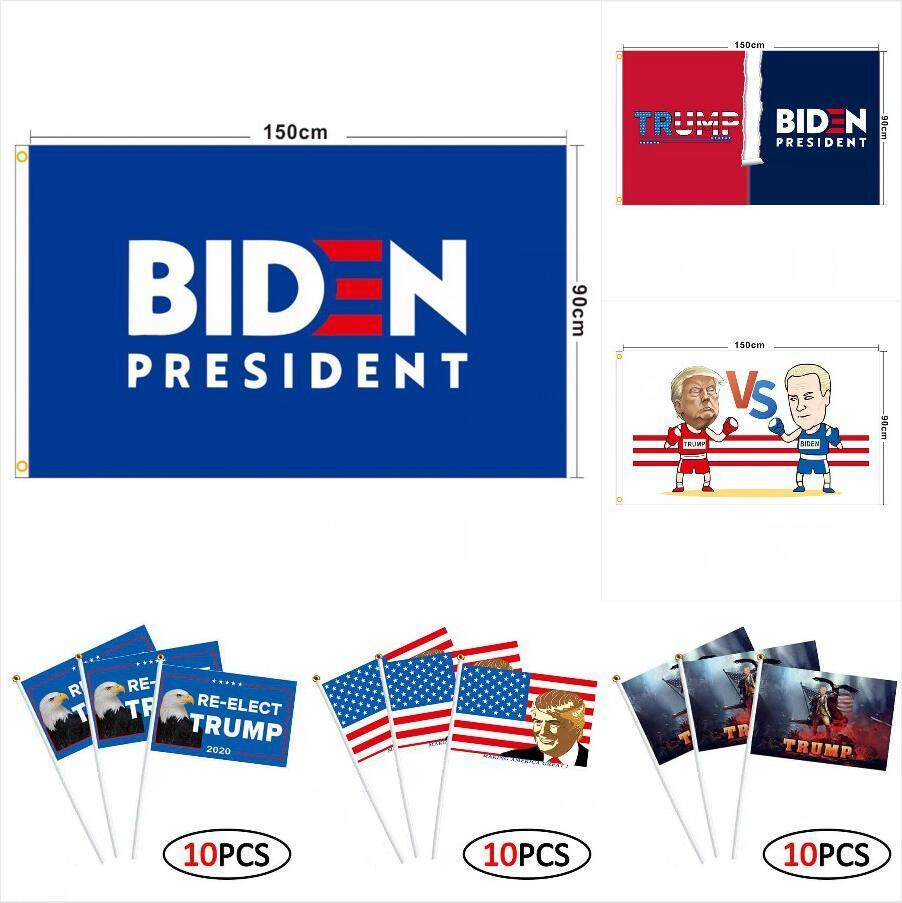 ترامب العلم 90 * 150CM 16 أنماط بايدن بيرني دونالد ترامب 2020 أعلام دبابات أمريكية الانتخابات الرئاسية ترامب اليد الشحن البحري DDA220