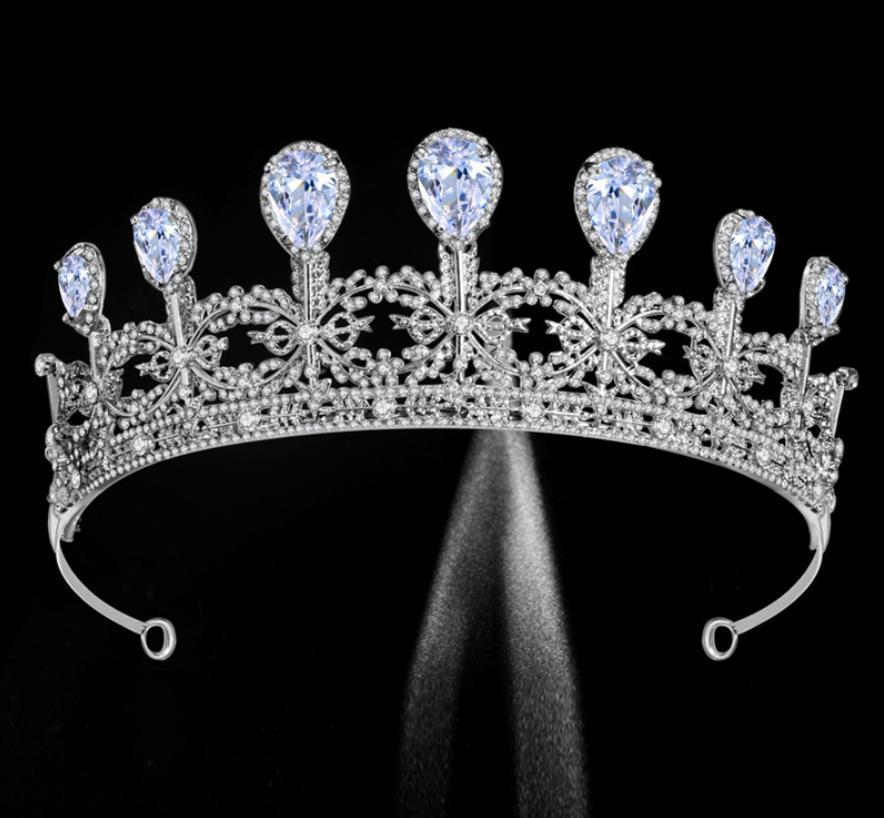 다이아몬드 반짝 웨딩 티아라 크라운 크리스탈 신부 헤어 액세서리 웨딩 투구 성인식 선발 대회 댄스 파티 여왕 공주 크라운 AL6641