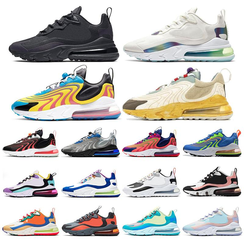 Nouveau React Hommes Femmes Chaussures de course Bubble pack Métalliques trois médailles d'or blanc noir formateurs Blanchi Coral mens femmes sneakers sport 36-45
