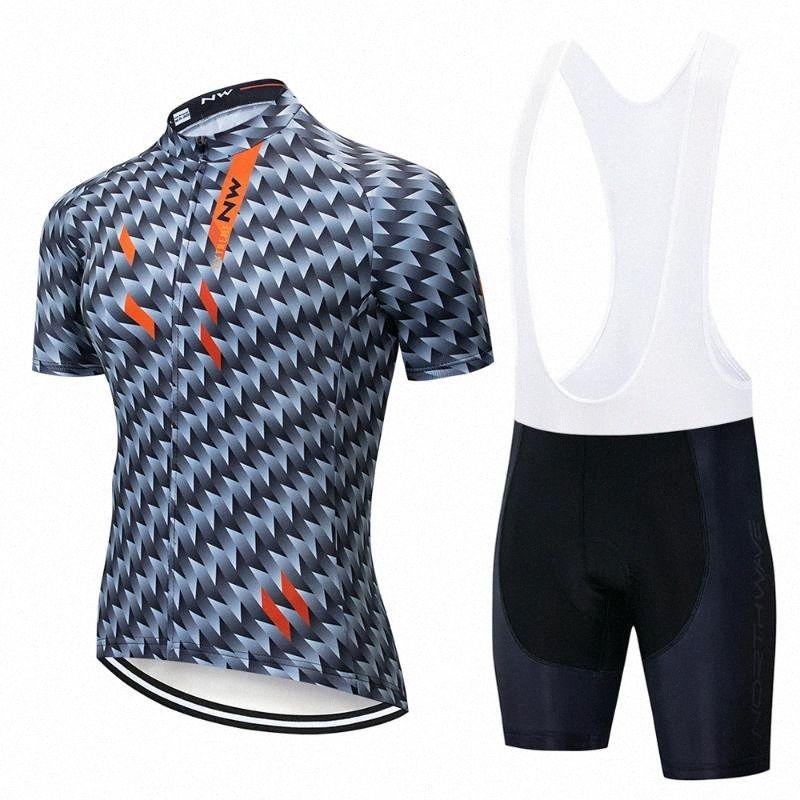 Desgaste NW ciclismo conjunto transpirable MTB ciclo de la bicicleta de bicicletas de montaña Ropa Ropa Ropa Ciclismo Maillot 8yVr #