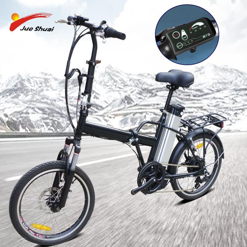 NO TAX Newest folding electric bike 36V 10ah lithium battery brushless rear motor LED display 6 speed 40km/h Alloy frame e bike