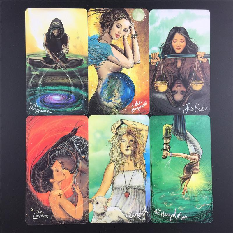 Tarot Cards Light Seers Oracle 78 Card Deck PDF Instructions for Family Deck Board Games Guidance Divination Fate Playing Card