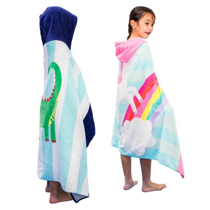La dernière taille 76X127CM, une variété de serviette de bain à capuche styles enfants serviette cape serviette de plage, livraison gratuite