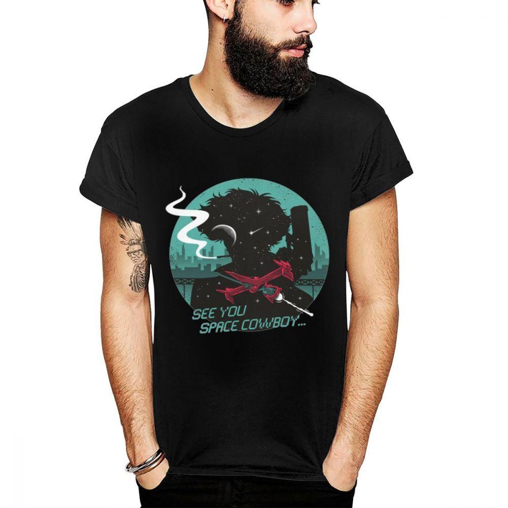Space Cowboy Bebop тенниска вскользь High-Q Бесплатная доставка Большой размер T-Shirt Мужская майка Man мультфильм T-Shirt