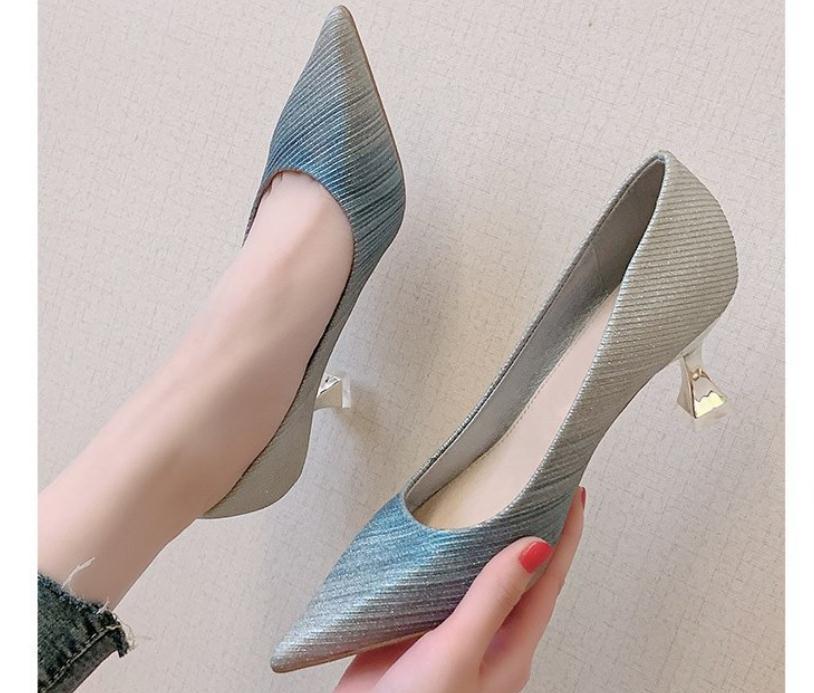 2020 весной и осенью с новой моды стиль Средний каблук тонкой пятки заостренный конец обувь Женская @ MQWBH805