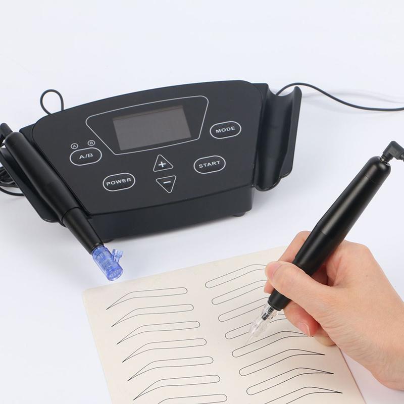 Professionelle Tattoo Black Pearl Machine Set Stickerei Augenbraue Tattoo Maschinenstift für halbpermanentes Make-up Microblading Augenbraue