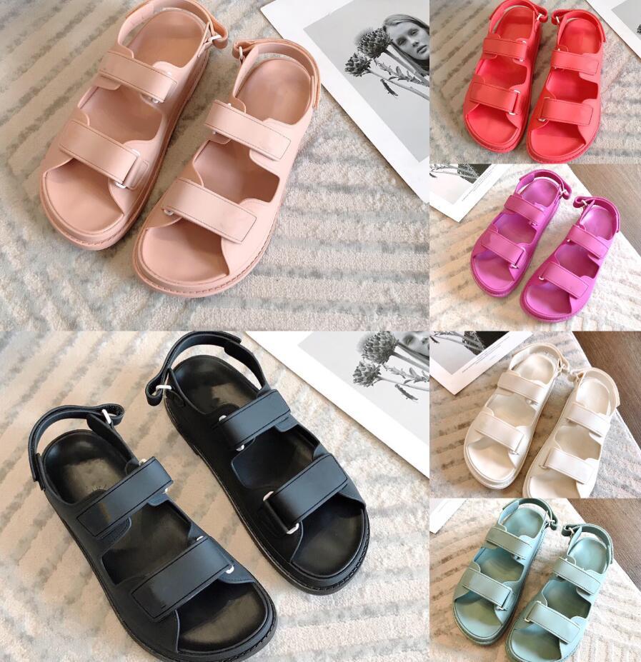 Diseñador de lujo Gladiador Sandalias Sandalias Mujeres Color Color Verano Zapatos Causales Cómodo Cuero genuino Famosa Plataforma Sandalias Tamaño 35-40