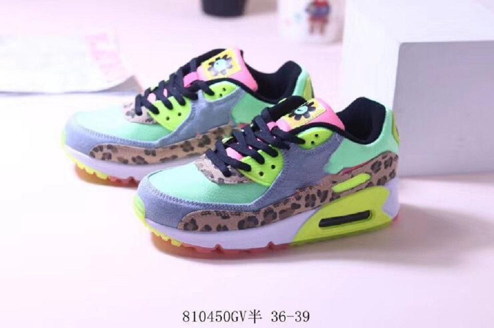 90a 30 Aniversario salvaje del estampado leopardo de colores de cristal inferior 90 Ultra 2.0 Esenciales zapatos corrientes de las mujeres zapatos casuales de superficie Breathab