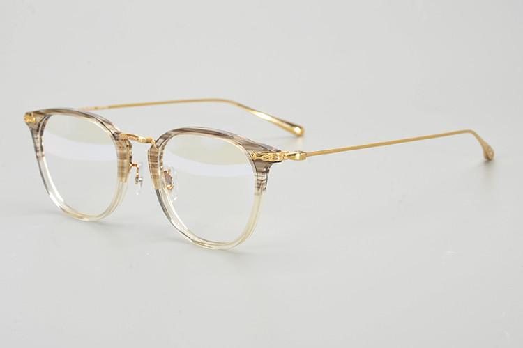 2020 de haute qualité OV5307D titane pur Vintage cadre rond pour les lunettes de prescription 49-21-145 fashional sortie ultra-léger unisexe freeshipp