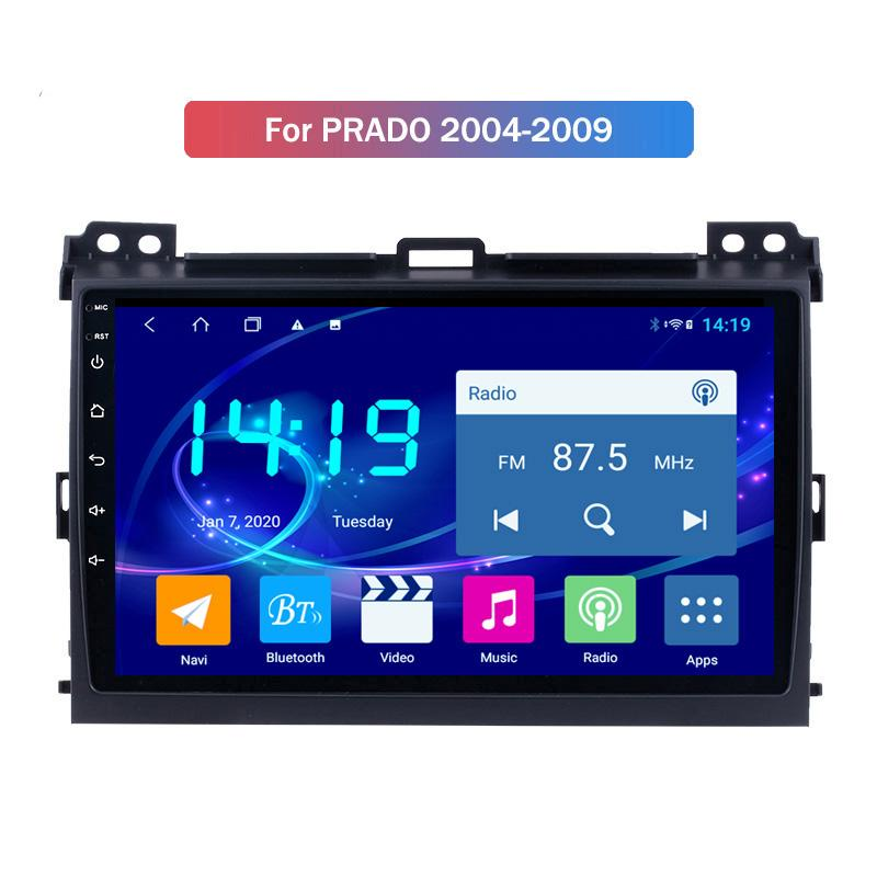 Android Car Radio for Toyota PRADO 2004-2009 Touch Screen Stereo Video Audio GPS Multimedia BT 4G WiFi