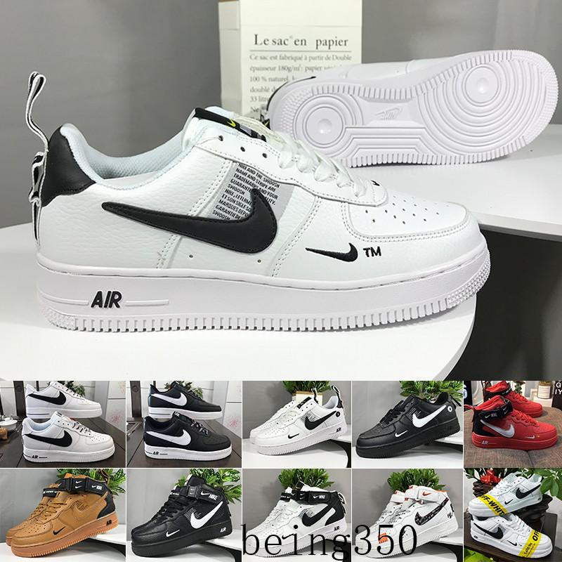 Nike Air Force 1 One Af1  New Off Men Running Froced Shoes 1 Low men Sneakers Forces One Mens Trainers Sports Skateboard One Sports White Air Sneakers N6D-K