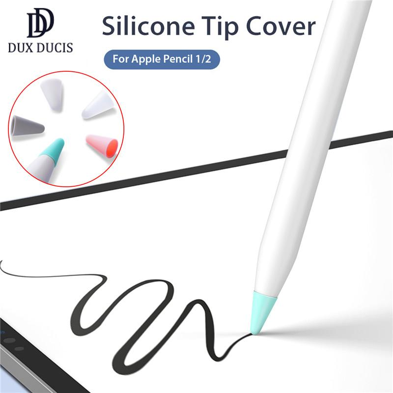 10pcs/Lot DUX DUCIS Silicone Tip Cover Nib Protective Cover for Apple Pencil 1st 2nd Touchscreen Stylus Pen Case Pencil Tip Cover