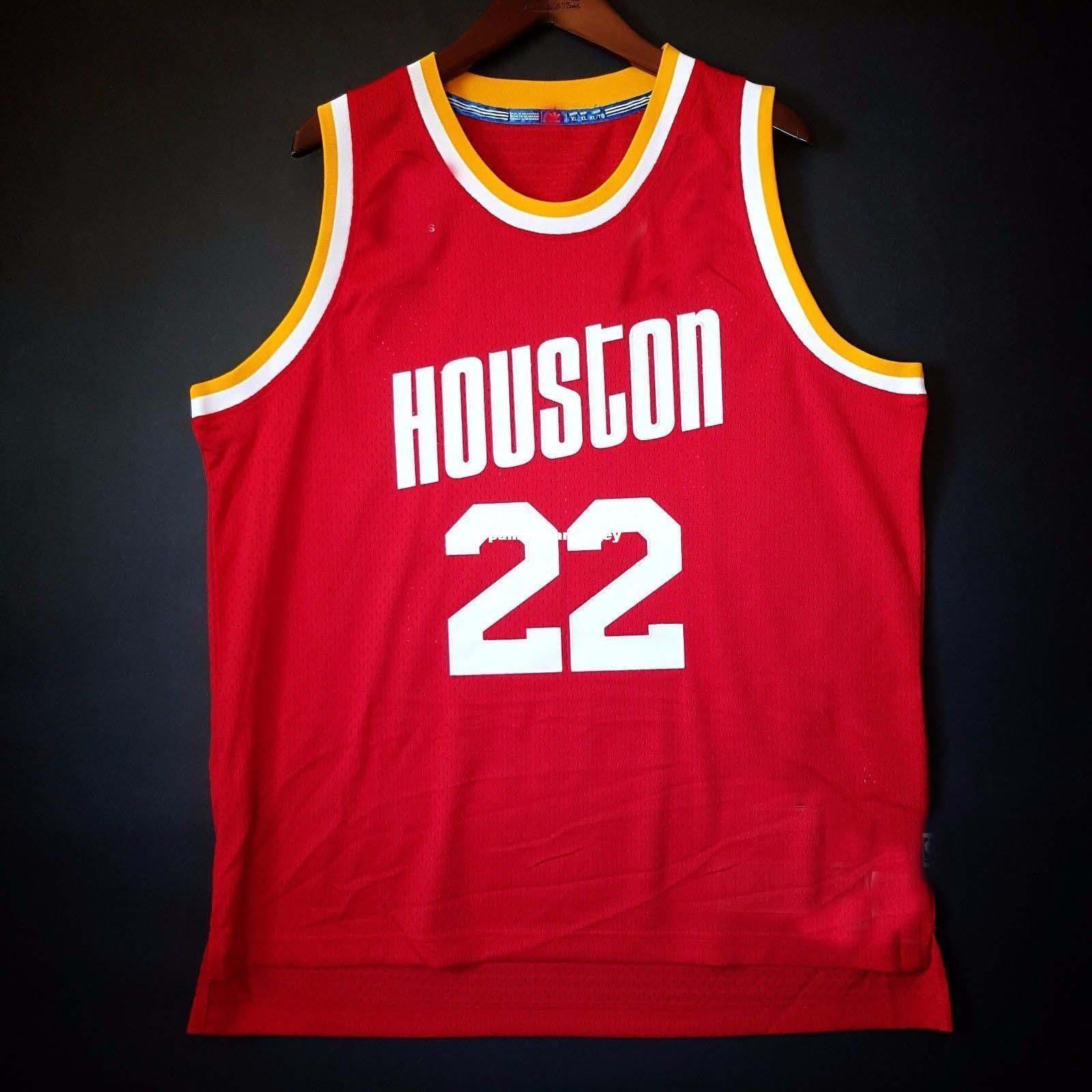 100% Stitched Clyde The Glide Drexler #22 Soul vest Sewn Jersey Red Mens Vest Size XS-6XL Stitched basketball Jerseys Ncaa