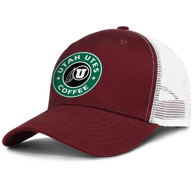 Utah Utes Futbol Mesh logosu erkek ve kadınlar ayarlanabilir kamyon şoförü meshcap golf bağbozumu ekibi moda baseballhats Starbucks Yeşil Hindistan cevizi