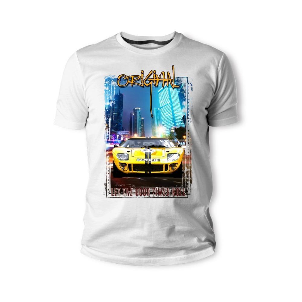La camiseta aficionados Sporter coches Gt40 Yello Coche amarillo Youngtimer Oldtimer Ment de la camiseta 2020 hombres de la manera de la venta caliente fresca camiseta de los hombres de moda
