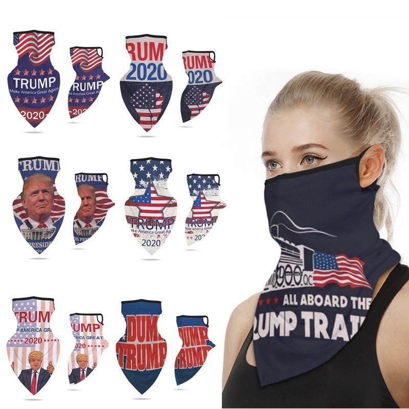 Multifuctional Открытый Защитные маски для лица президент Trump Выборы Ice Шелковый ВС Защитная маска пыле уха Loop Triangle шарф Тюрбан