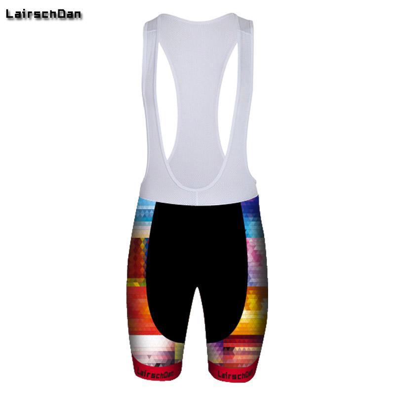 SPTGRVO LairschDan 2020 multicolorQuick Kuru Jel Paded Bisiklet Şort Erkek / Kadın Yolu Likra Binme Önlüğü Şort Bermuda Ciclismo