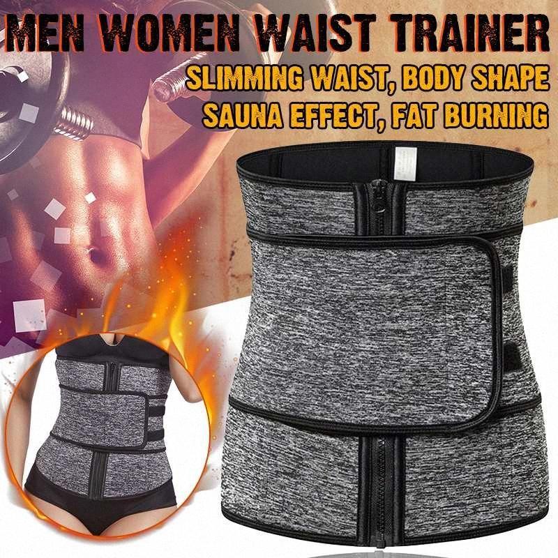 NUEVA neopreno Sauna cintura del corsé Trainer Sweat cinturón para las mujeres la pérdida de peso de compresión de recorte del entrenamiento de fitness # MjP7