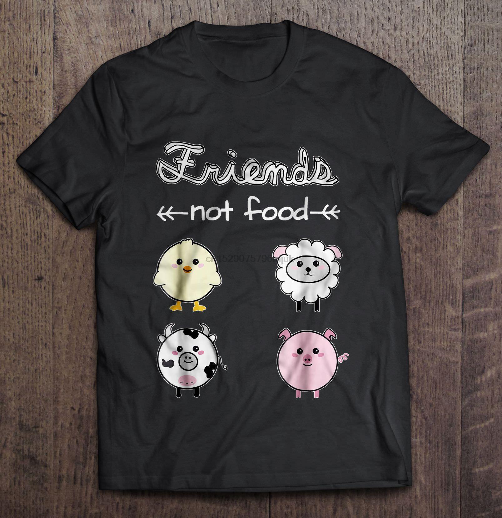 Camiseta de los hombres Amigos No Alimentación Versión2 camiseta de las mujeres