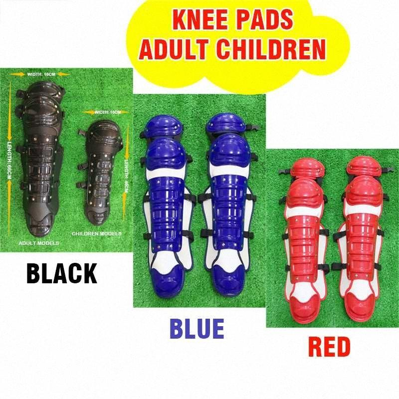 As almofadas do joelho Knee Pad Suporte Voleibol equitação EVA para Crianças Adolescentes Competição Adulto Baseball Catcher engrenagem face Chest Protector ajAF #