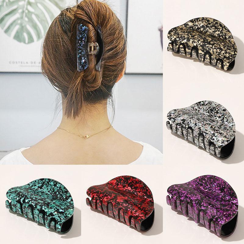 Coreano geometrica Acetato artigli dei capelli grandi forcine e clip in marmo Prined capelli Morsetti Crabs per le donne Ragazze Accessori per capelli