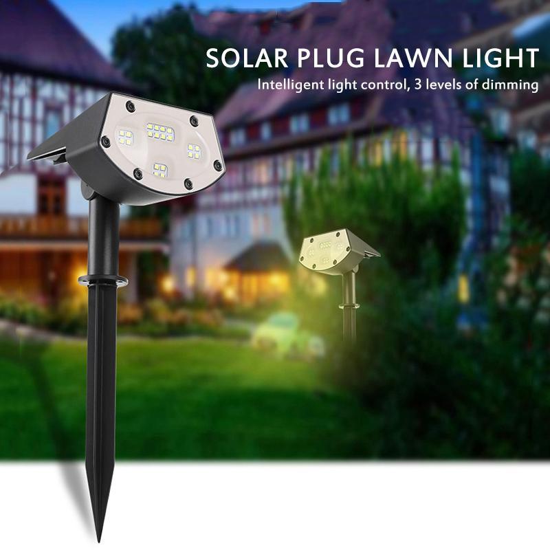 20LED 방수 야외 잔디 정원 램프 220V LED 잔디 풍경 램프 스파이크 전구 IP65 야외 정원 조명 스포트 라이트 10217