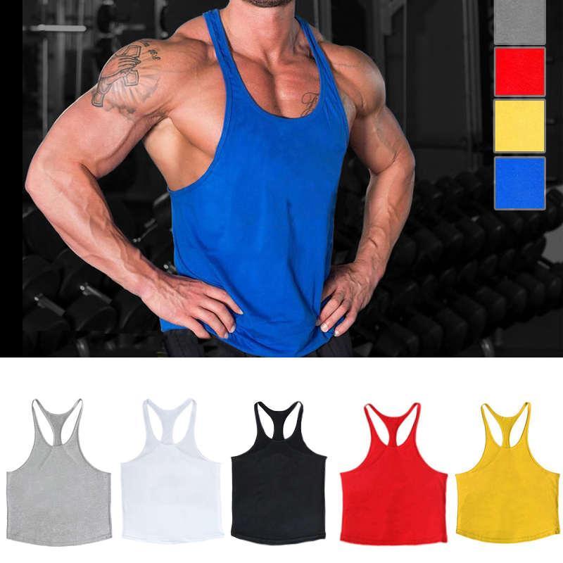 Gym im Sonderangebot Männer Muskelshirt für Bodybuilding und Fitness Stringer Sport